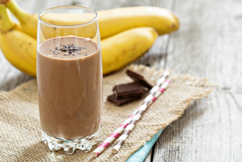 Chocolate-Banana Protein Smoothie